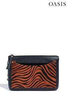 Oasis Animal Leather Cross Body Bag
