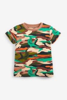 Short Sleeve All Over Print Camo T-Shirt (3mths-7yrs)