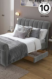 Hargrave Sleigh Two Drawer Bed