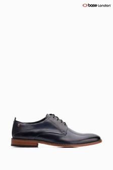 Base London® Blue Script Washed Lace-Up Shoes
