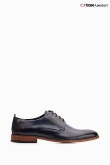 Niebieskie, sznurowane buty z napisem i efektem sprania Base London®
