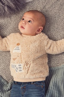 Cosy Fleece Bear Jumper (0mths-2yrs)