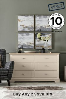 Hampton 6 Drawer Wide Chest