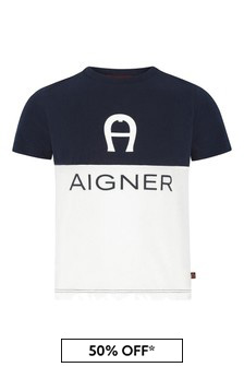 Aigner Navy Cotton T-Shirt