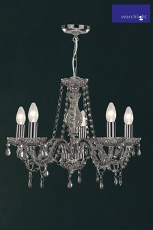 Searchlight Metal Marie Therese 5 Light Chandelier