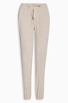 Велюровые спортивные брюки в рубчик