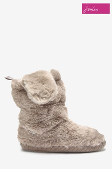 Joules Grey Mule Slippers