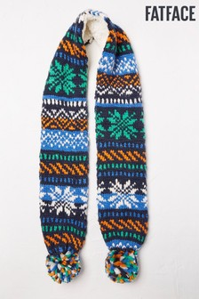 Fat Face Navy Fairisle Pattern Scarf
