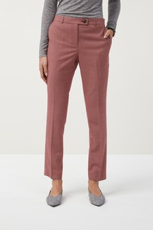 Sharkskin Effect Taper Trousers