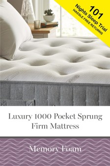 1000 Pocket Sprung Luxury Memory Foam Firm Mattress