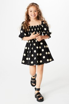 Shirred Mini Dress (3-16yrs)