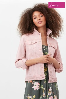 Joules Pink Arkley Relaxed Denim Jacket