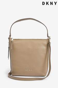 DKNY Tappen Leather Hobo Shoulder Bag