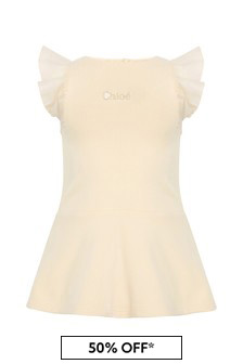 Chloe Kids Girls Pale Pink Cotton Dress