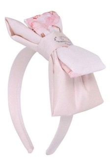 Girls Pink Floral Print Headband