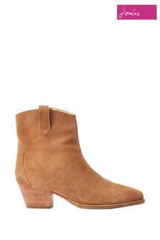 Bottines Joules Elmwood style Western en daim marron