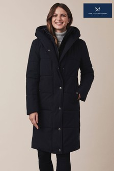 Crew Clothing Company Blue Heavy Padded Coat