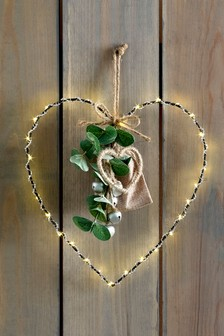 Lit Hanging Heart