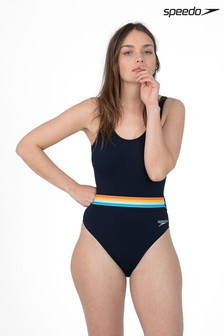 Speedo® Rainbow Belted Deep Back Swimsuit