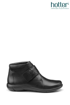 Hotter Black Daydream Touch Fastening Ankle Boots