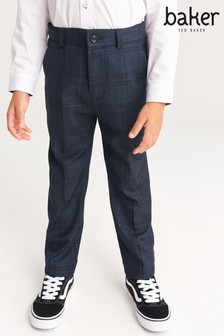 Baker by Ted Baker Woven Check Trousers