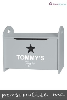 Personalised Small Toy Storage Box by Loveabode