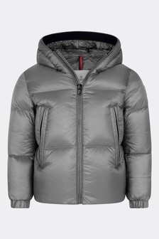 Boys Grey Down Padded Gleb Jacket
