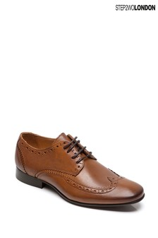 Step2wo Tan Sonny Classic Lace-Up Shoes