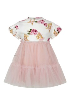 Baby Girls Pink Jersey & Tulle Teddy Dress