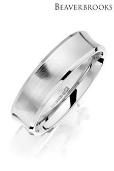 Beaverbrooks Men's Palladium Wedding Ring