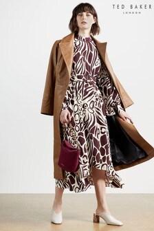 Ted Baker Giraft Giraffe Printed Midi Dress
