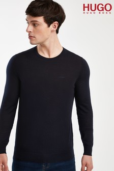 HUGO Blue San Lorenzo Crew Neck Jumper
