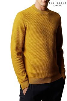 Ted Baker Seer Long Sleeve Textured Crew Neck
