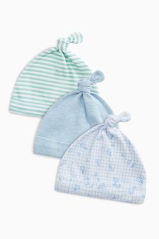 Transport Tie Top Hats Three Pack (0-18mths)