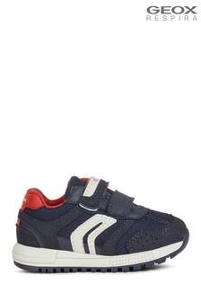 Chłopięce niebieskie niemowlęce buty Geox Alben