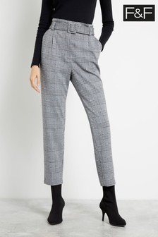 F&F Grey Jersey Trousers