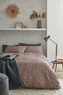 Crinkle Texture Polka Dot Duvet Cover and Pillowcase Set