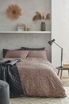 Crinkle Texture Polka Dot Duvet Cover and Pillowcase Set