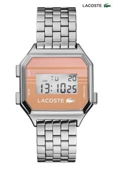 Lacoste Pink Striped Berlin Digital Watch