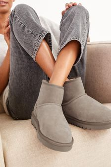 Faux Fur Lined Ankle Boots