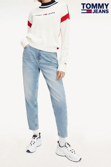 Tommy Jeans Blue Sunday High Rise Tapered Mom Jeans