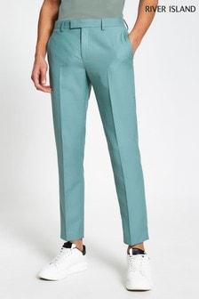 River Island Green Skinny Trousers