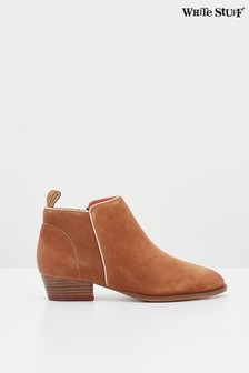 White Stuff Tan Willow Suede Ankle Boots
