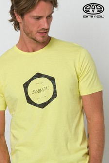 Animal Yellow Lamary Graphic T-Shirt