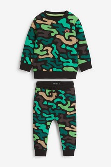 Camo Crew And Joggers Set (3mths-7yrs)