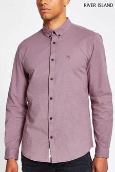 River Island Purple Oxford Shirt