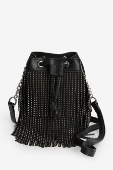 Diamanté Fringe Mini Bag