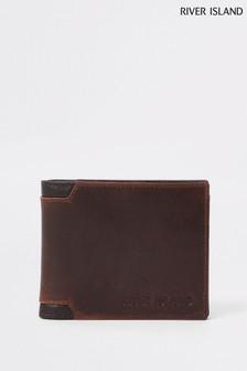 River Island Brown Corner Wallet