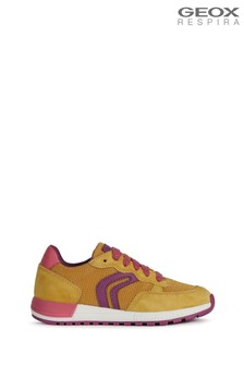 Geox Girl's Alben Yellow Shoes