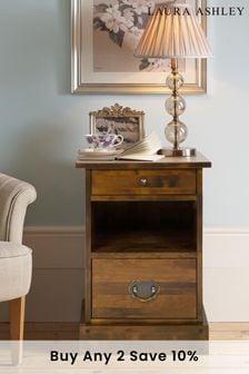 Garrat Dark Chestnut 2 Drawer Side Table by Laura Ashley
